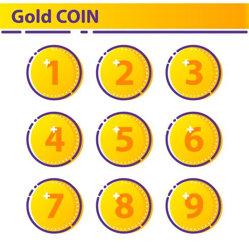 Goldmünze-Symbol. vektor