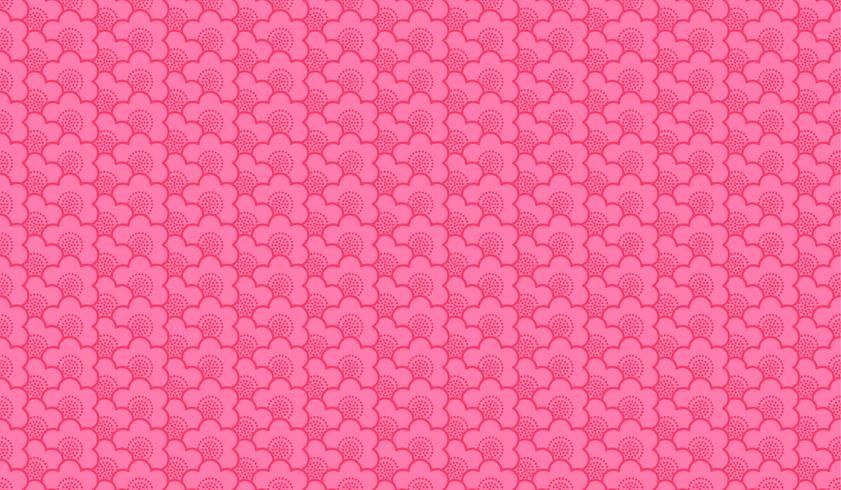 Japanische Verzierung mit Kirschblüte blüht nahtlosen Muster erstklassigen Hintergrund vektor