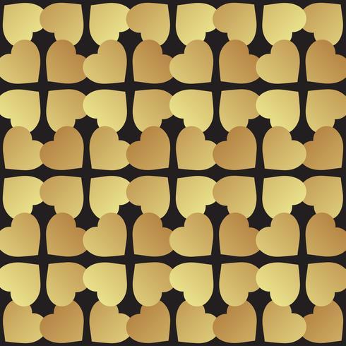 Universalschwarzes und Goldnahtlose Musterfliesen. vektor