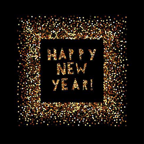 Gott nytt år. Julbanderoll vektor