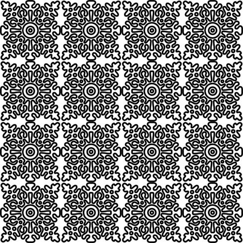 sömlöst mönster med nationella ryska spets svart och vitt. vektor