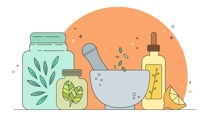 homeopatisk medicin vektor