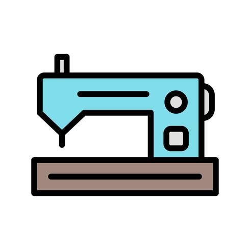 Nähmaschine-Vektor-Symbol vektor