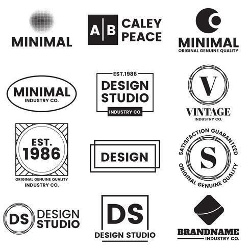 Minimales Vektor-Logo für Banner vektor