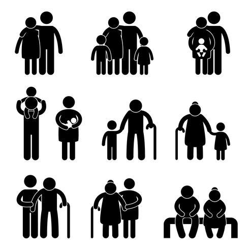 Glückliche Familie Symbol Zeichen Symbol. vektor