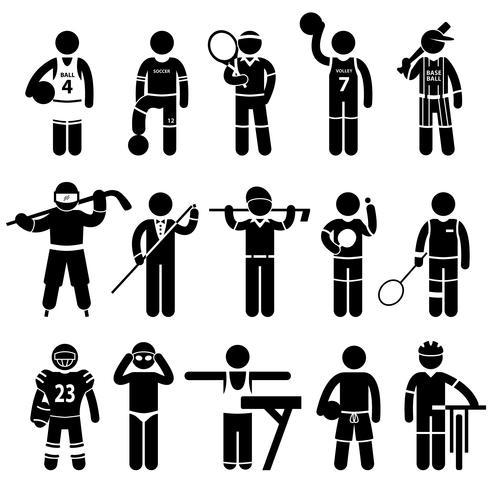 Sportkläder Sportkläder Kläder. vektor