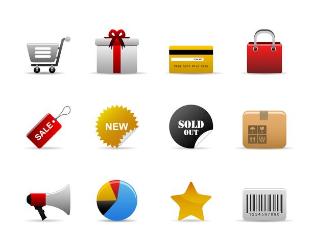 E-Commerce-Symbole. vektor