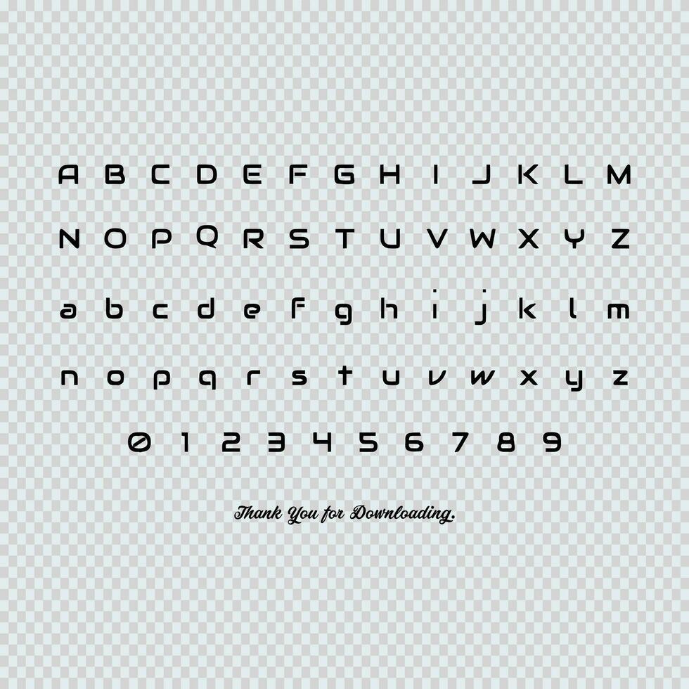 Engelska bokstäver vektor