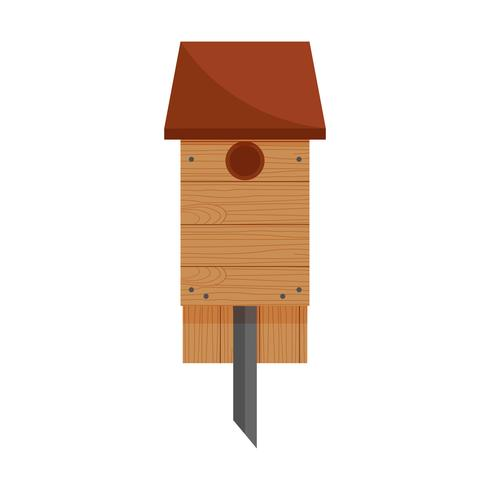 Vogelhaus aus Holz vektor