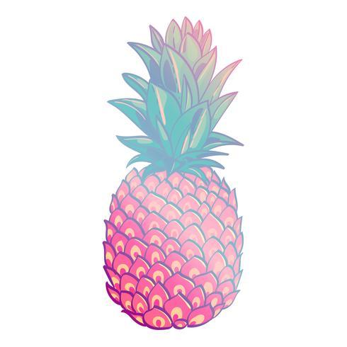 Kreatives modisches Kunstplakat der Ananas. vektor