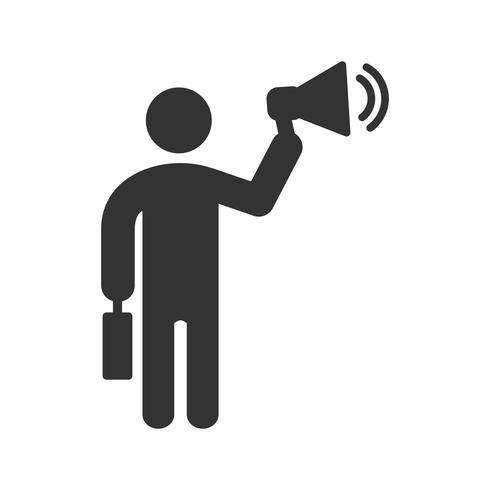 Business Marketing Glyph Icon vektor