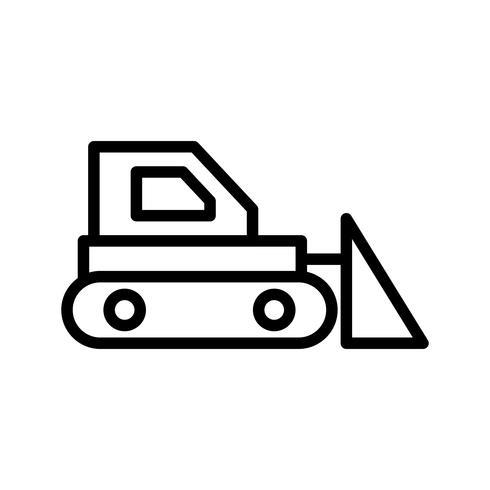 bulldozer vektorikonen vektor