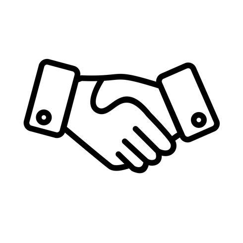 Handshake-Vektor-Symbol vektor