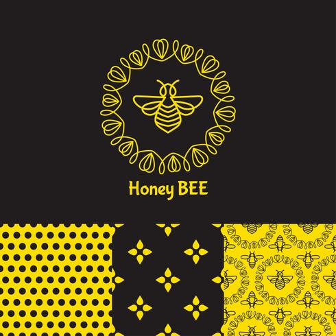 Insekt Badge Bee für Corporate Identity vektor