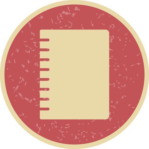 Vektor Spiral Notebook Ikon