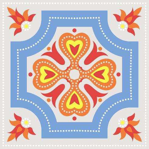 Portugisiska azulejoplattor. Blå och vit underbar sömlös patte. vektor