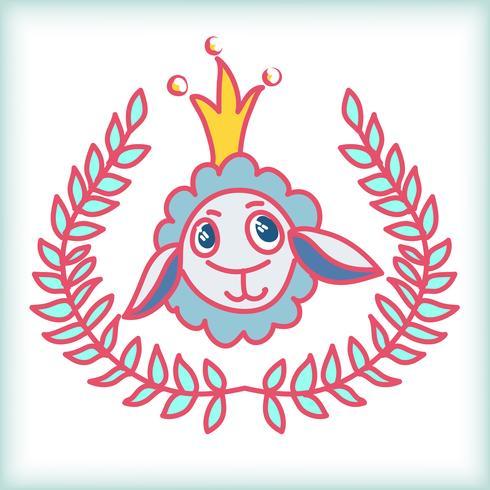 sheep doodle stil vektor
