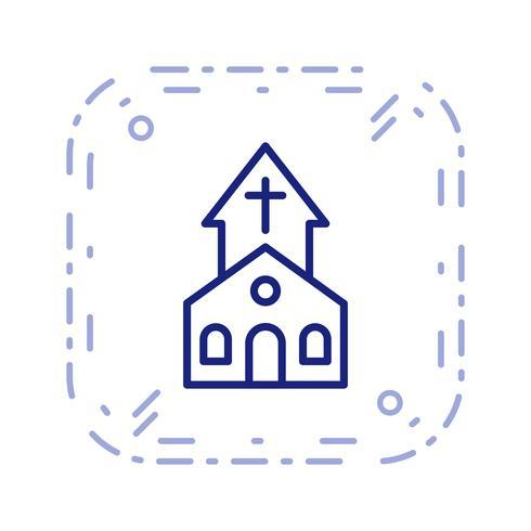 Kyrkvektor Ikon vektor
