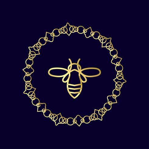 Insekt Badge Bee för företagsidentitet vektor