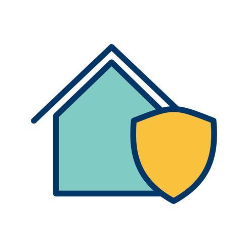 Skyddad husvektorikon vektor