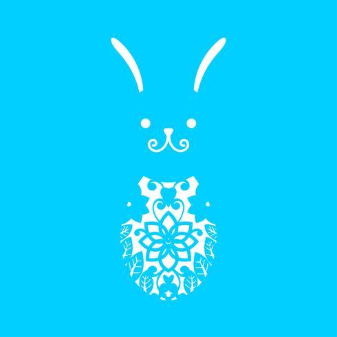 Glad påsk Laserskärmsmall för hälsningskort vektor