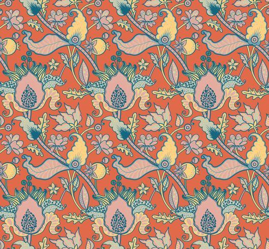 Indian National Paisley-Ornament für Baumwolle, Leinenstoffe. vektor
