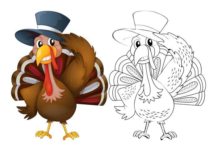 Tierentwurf für tragenden Hut der Türkei vektor