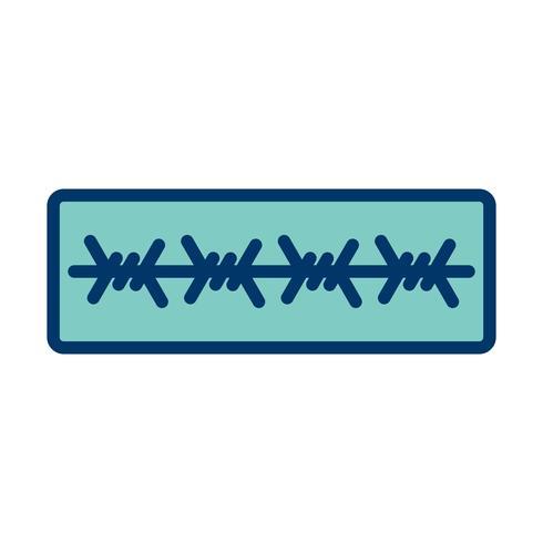 taggtråd vektor ikon