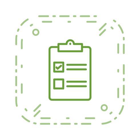 Vektor-Checkliste-Symbol vektor