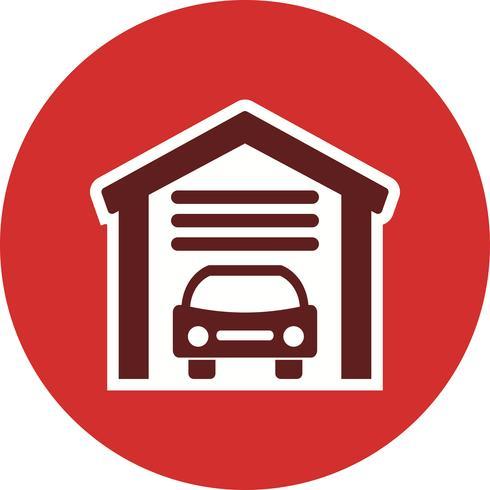 Garage-Vektor-Symbol vektor