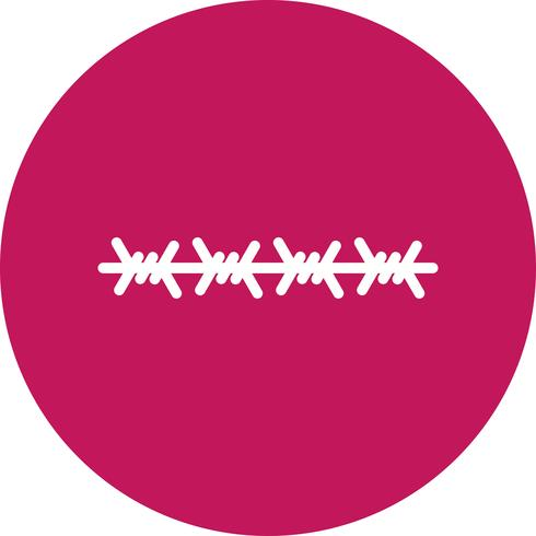 Stacheldraht-Vektor-Symbol vektor