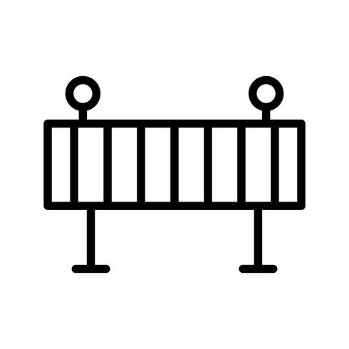 Barriere-Vektor-Symbol vektor