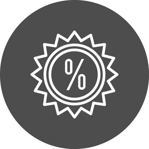 Vektor-Rabatt-Symbol vektor