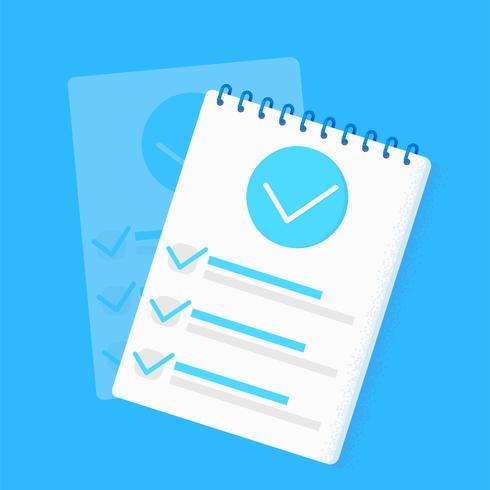 Checkliste für Umfrageforschung vektor