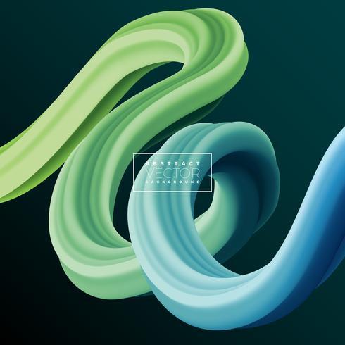 Abstrakte bunte Kurven-Linie Hintergrund 3D. Vektor-flüssige flüssige künstlerische Farbillustration. Kreatives Konzept für Präsentations- oder Kommunikationsdesign. vektor