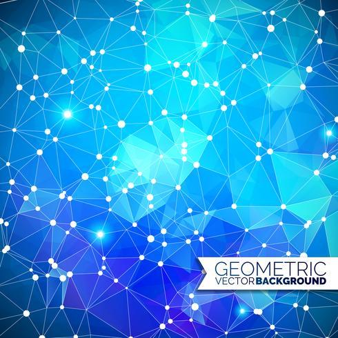 Abstrakt geometrisk bakgrund. Triangel design med polygonal form och vit cirkel för socialt nätverk illustration. vektor