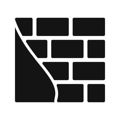 Ziegelmauer-Vektor-Symbol vektor