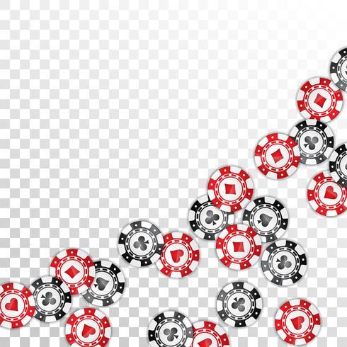Realistische Kasinochipillustration auf transparentem Hintergrund. Isolierte fallende Marke. Vektor-Glücksspiel-Konzeption. vektor
