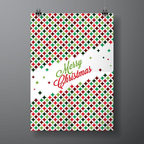 Vektor God jul helgdag illustration med typografisk design