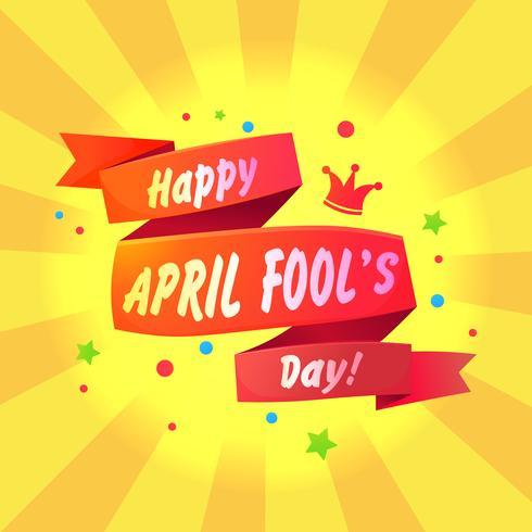 Banner gratulationer den 1 april vektor