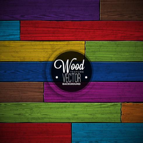 Vektor färgmålad trästruktur bakgrundsdesign