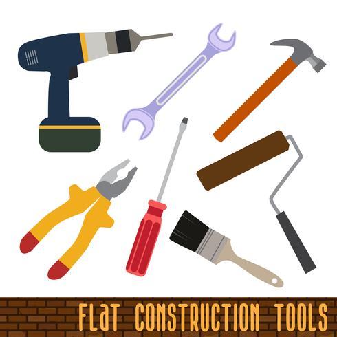 Icons Set Handwerk, Werkzeuge vektor
