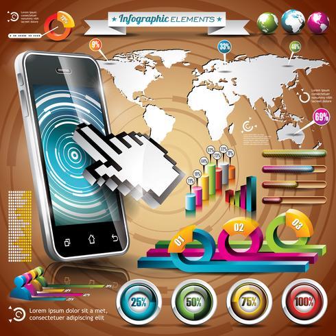 Vektor teknik design uppsättning infographic element