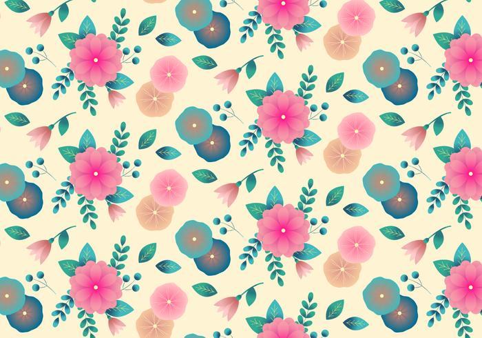 Vintage blommig bakgrund vektor