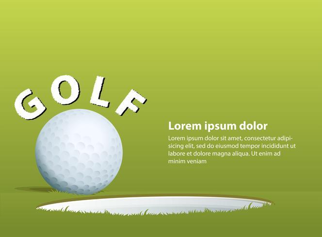 Golfboll vektor