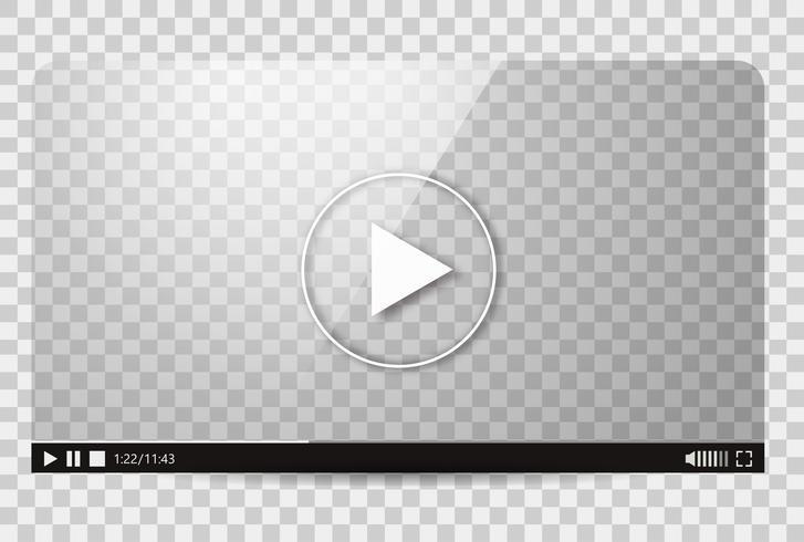 Design av videospelaren. Gränssnittsfilms media-spellistan. Vektor platt illustration