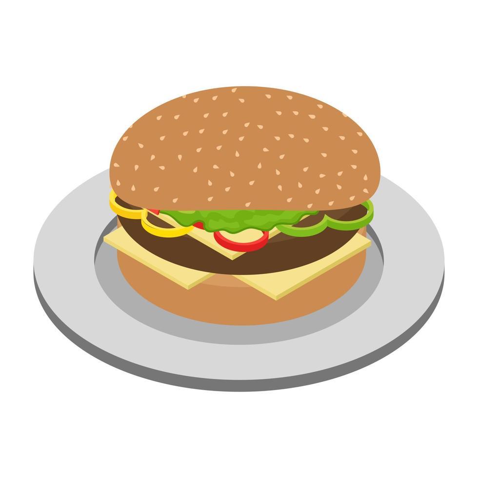 trendige Burger-Konzepte vektor