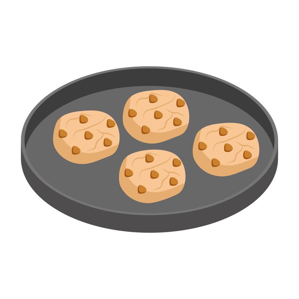 trendige Cookie-Konzepte vektor