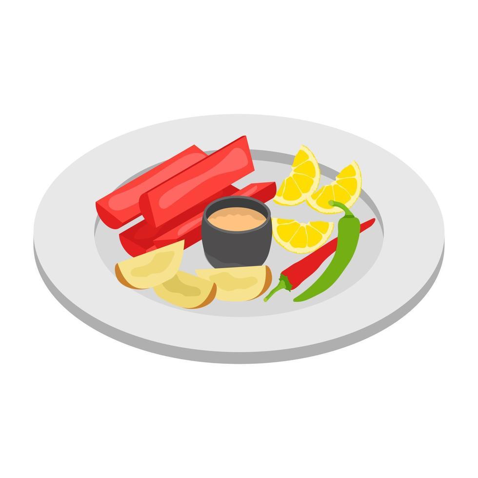 trendige Frühstückskonzepte vektor