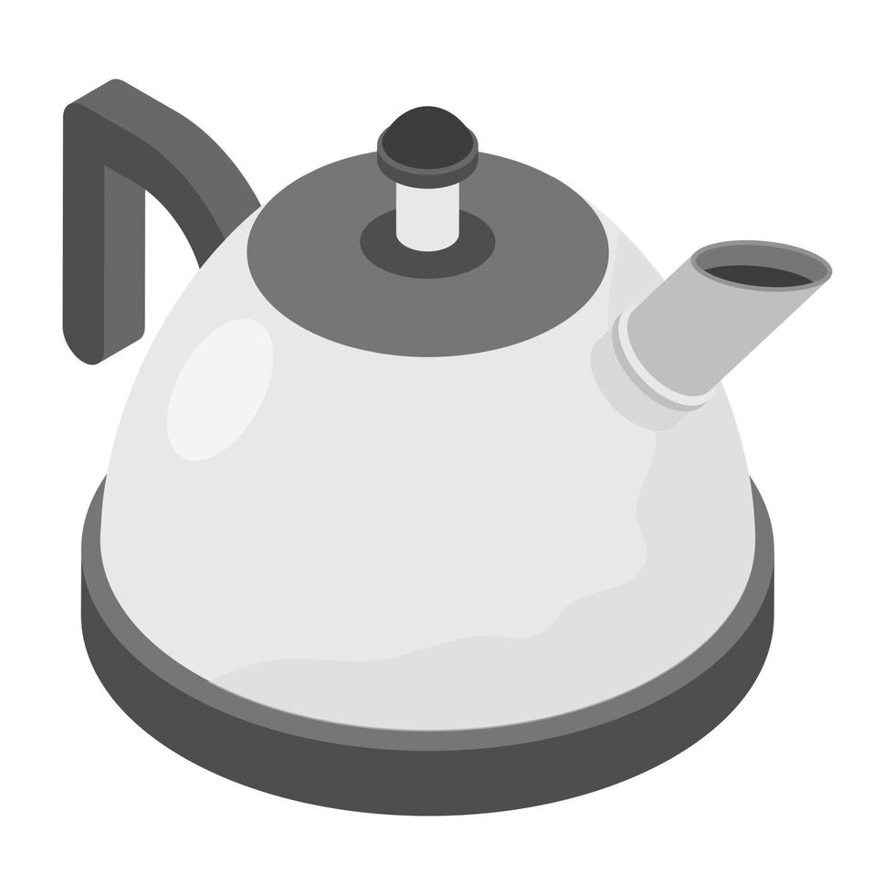 trendige Teekannenkonzepte vektor